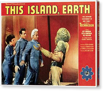 This Island, Earth, From Left Faith Canvas Print by Everett