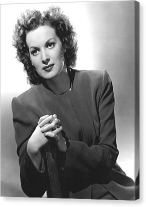This Land Is Mine, Maureen Ohara, 1943 Canvas Print by Everett