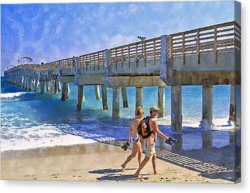 This Side Of Paradise Canvas Print by Debra and Dave Vanderlaan