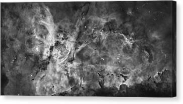 This View Of The Carina Nebula Canvas Print by ESA and nASA