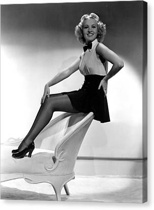 This Way Please, Betty Grable, 1937 Canvas Print by Everett