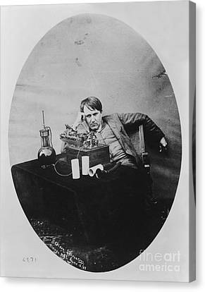 Thomas Edison, American Inventor Canvas Print by U.S. Department of the Interior
