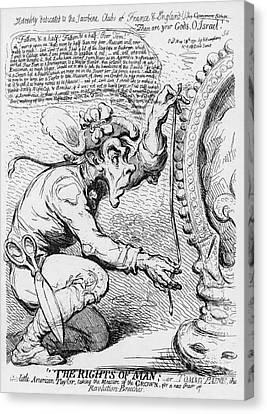 Thomas Paine Caricature Canvas Print by Photo Researchers