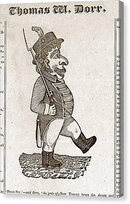 Thomas Wilson Dorr. Caricature Of Dorr Canvas Print by Everett