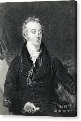 Thomas Young, English Polymath Canvas Print by Photo Researchers