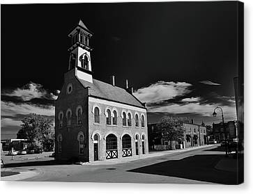 Thorold's Old Fire Hall Canvas Print by Guy Whiteley