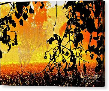 Thoughts Of Halloween Canvas Print by Marilyn Smith