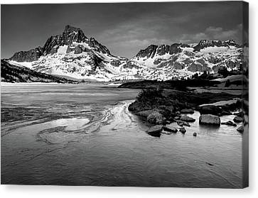 Thousand Island Lake, Mt. Ritter And Banner Peak Canvas Print by David Kiene