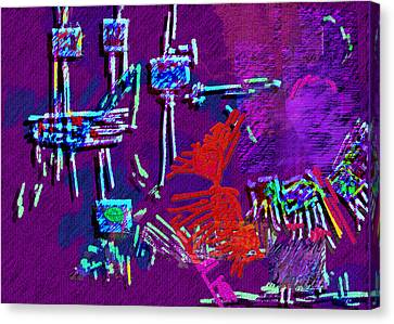 Threads Canvas Print by Mathilde Vhargon