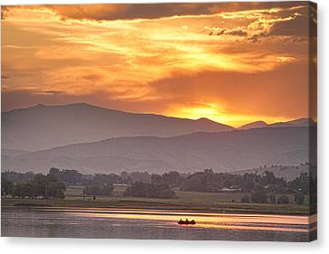 Three Belly Boats Enjoying The View Canvas Print by James BO  Insogna