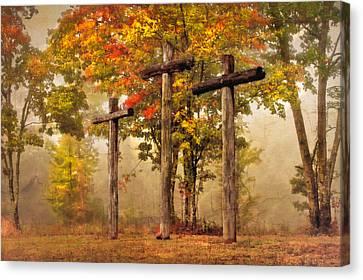 Three Crosses Canvas Print by Debra and Dave Vanderlaan