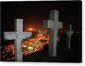 Three Crosses Canvas Print
