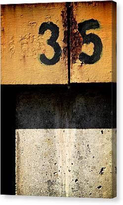Three Five Split Canvas Print by Odd Jeppesen