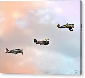 F3f Canvas Print - Three Fliers by Endre Balogh