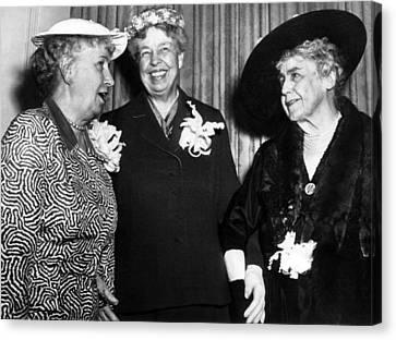 Three Former First Ladies, L-r Bess Canvas Print by Everett