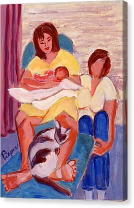 Three Generations Canvas Print by Elzbieta Zemaitis