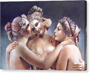 Three Graces Detail Canvas Print by Geraldine Arata