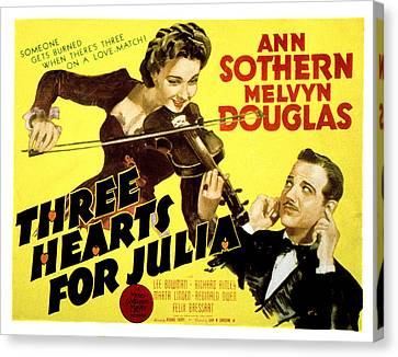 Three Hearts For Julia, Ann Sothern Canvas Print by Everett