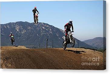 Three In The Air Canvas Print