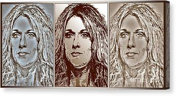 Three Interpretations Of Celine Dion Canvas Print