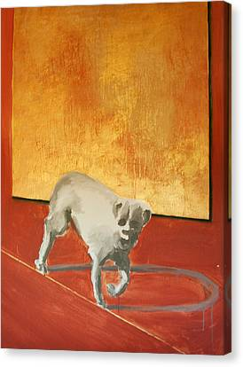 Three Legged Dog Canvas Print by Jea DeVoe