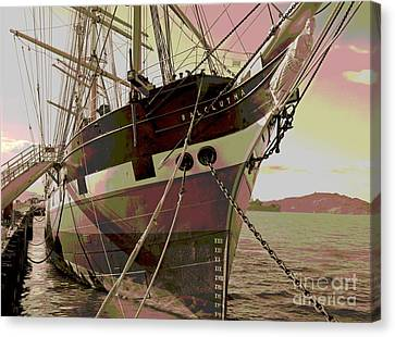 Three Masted Schooner Balclutha Canvas Print by Padre Art