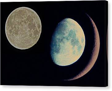 Three Moon Canvas Print