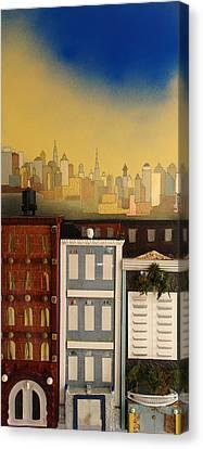 Three Nice Small Buildings Canvas Print by Robert Handler