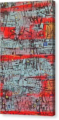 Three Pagodas Canvas Print by Debra Jacobson