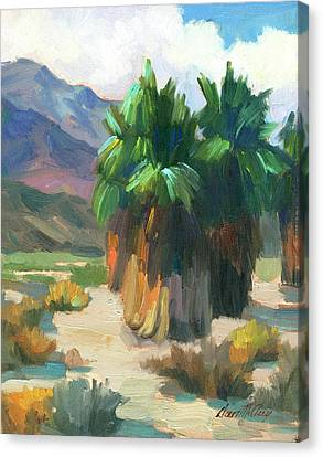 Three Palms Canvas Print by Diane McClary