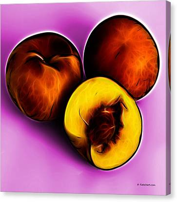 Three Peaches - Magenta Canvas Print by James Ahn
