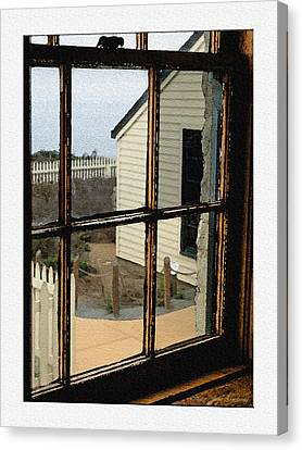 Through The Window Canvas Print by MaryJane Armstrong