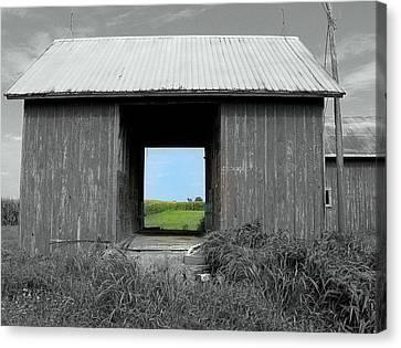 Illinois Barns Canvas Print - Through The Years by Claude Oesterreicher