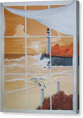 Thru The Window Canvas Print