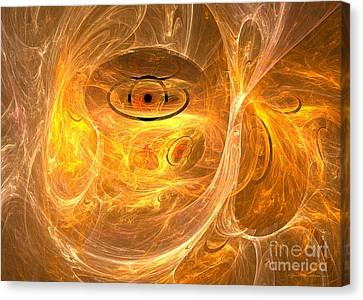 Thunder Eye - Abstract Digital Art Canvas Print by Sipo Liimatainen