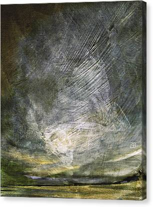 Canvas Print featuring the digital art Thunder In The Distance by Jean Moore