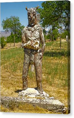 Thunder Mountain Indian Monument - Demon Canvas Print by Gregory Dyer