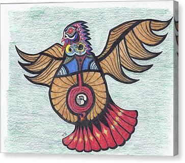 Thunderbird Totem Canvas Print by Tony  Nelson