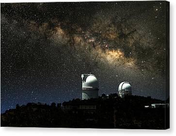 Thundering Milky Way Canvas Print by Larry Landolfi