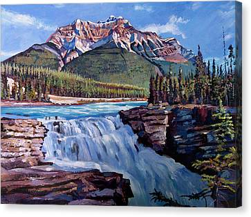 Thundering River Canvas Print by David Lloyd Glover