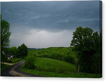 Canvas Print featuring the photograph Thunderstorm by Kathryn Meyer