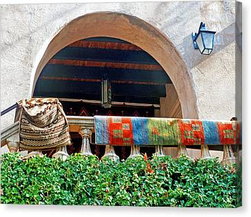 Canvas Print featuring the photograph Tiaquepaque Market Balcony by Helen Haw