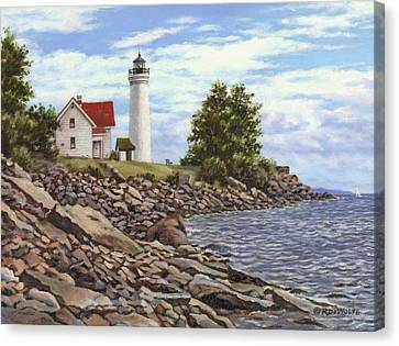 Tibbetts Point Lighthouse Canvas Print by Richard De Wolfe