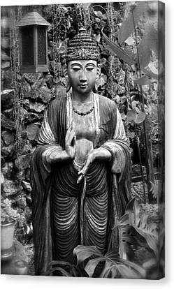 Tibetan Buddhism Canvas Print - Tibetan Buddha by Karon Melillo DeVega