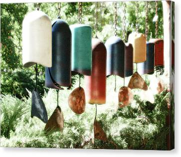 Tibetan Wind Chimes Canvas Print by Heidi Hermes