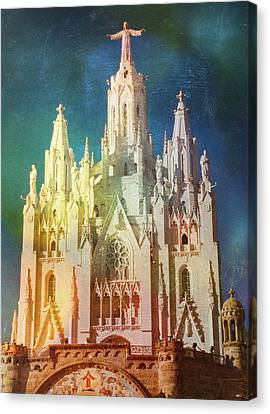 Canvas Print featuring the photograph Tibidabo by Rod Jones