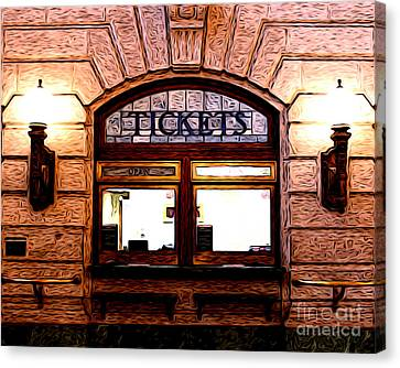 Canvas Print featuring the photograph Ticket Booth by Anne Raczkowski