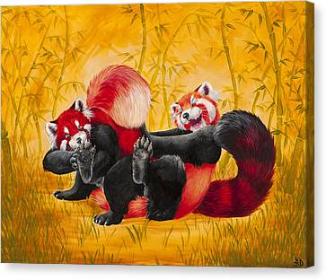 Tickle Fight Canvas Print