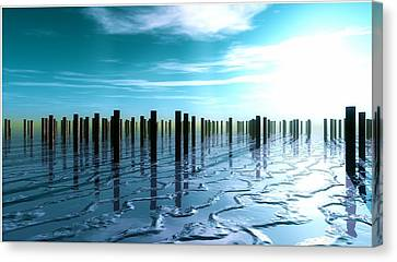 Tide Is Out... Canvas Print by Tim Fillingim