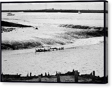 Tides On The Wane. Canvas Print
